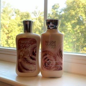 Bath and Body Works Warm Vanilla Sugar bundle